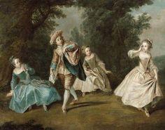 mid 18th C, Attribué à Philippe Mercier Berlin, 1689 - Londres, 1760 Le
