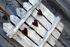 Valentines Day Trio of Hearts Rustic Picket Fence Door Hanger Home Decor Bamboo Fence, Metal Fence, Fence Stain, Stone Fence, Brick Fence, Concrete Fence, Aluminum Fence, Fence Landscaping, Backyard Fences