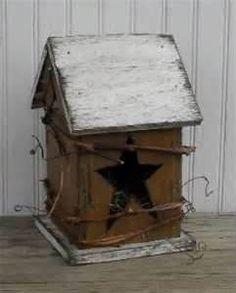 Primitive birdhouse idea