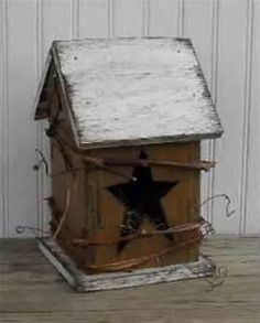 Primitive birdhouse idea