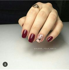 Stunning nail art trend ideas for 2019 027 Stunning nail art trend ideas for 2019 027 Latest Nail Designs, Nail Art Designs, Burgundy Nails, Red Nails, Nail Deco, Matte Nails Glitter, Pretty Nail Art, Stylish Nails, Flower Nails