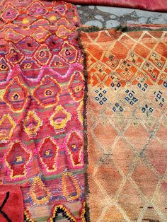 Talsint and Beni M'Guild carpets, two of many great finds.