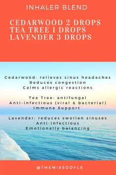 Sinus and Allergy Relief Blend for inhalers or shower fizzies! Essential Oils Allergies, Essential Oils For Congestion, Essential Oil Inhaler, Essential Oil Diffuser Blends, Relieve Sinus Headache, Cold Sore Essential Oil, Oils For Newborns, Asthma Relief, Allergies