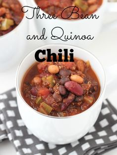 Three Bean and Quinoa Chili from Living Well Kitchen