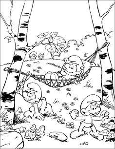 Kleurplaten Van Baby Smurf.30 Beste Afbeeldingen Van Kleurplaten De Smurfen In 2013