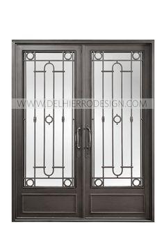 Window Grill Design Modern, Balcony Grill Design, Grill Door Design, Window Design, Iron Front Door, Modern Front Door, Iron Window Grill, Double Door Design, Window Bars
