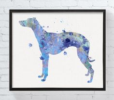 Watercolor Whippet Whippet Print Whippet Art by MiaoMiaoDesign
