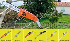Test et avis de 6 élagueuses électriques sur perche pour couper les branches de ses arbres en tout sécurité avec les astuces bricolage de Système D.