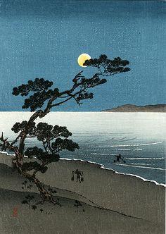 Kawase Hasui Japanese Woodblock Moonlit & Snow Prints