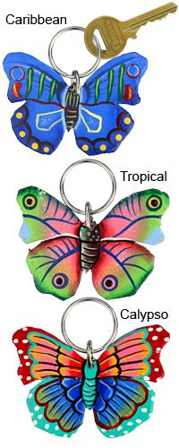 Haitian Folk Art Butterfly Keychain at The Animal Rescue Site