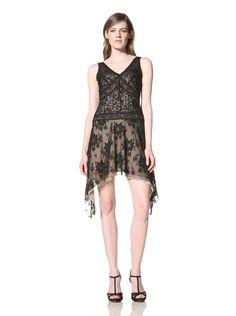 61% OFF Alexia Admor Women\'s Lace Dress with Asymmetrical Hem (Black)