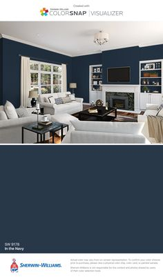 I found this color with ColorSnap® Visualizer for iPhone by Sherwin-Williams: In the Navy (SW 9178).