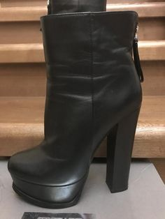 High Heel Boots, Knee Boots, Chunky Heels, Worship, Leather Boots, Ankle, News, Outfits, Shoes