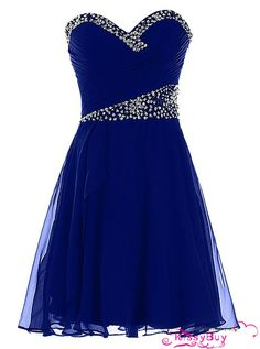 short maid of honor dresses in royal blue and silver - Google Search