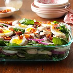 Grandma's Spinach Salad Recipe -With all its fresh ingredients, this pretty salad was my grandma's favorite. Even my little ones like it (but don't tell them spinach is good for them)! —Shelley Riebel, Armada, Michigan