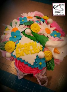 Cupcake Birthday Bouquet by Care 4 Cakes