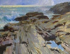 Overcast Pemaquid Point,   Colin Page,  30x40           RaymarArt Painting Competition Entry
