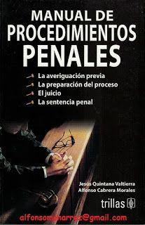 LIBROS EN DERECHO: MANUAL DE PROCEDIMIENTOS PENALES