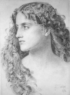 Miranda, Frederick Sandys. English Pre-Raphaelite Painter, (ca1829-1904) art  http://annabelchaffer.com/