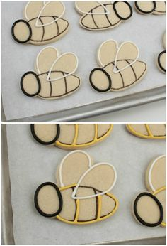 New cupcakes easter decoration cookie tutorials 15 ideas Bee Cookies, Fancy Cookies, Cut Out Cookies, Royal Icing Cookies, Cupcake Cookies, Cookie Favors, Flower Cookies, Heart Cookies, Easter Cupcakes