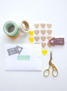 // DIY Carved Stamp   Lovely Indeed //