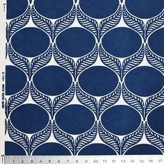 June Leaf Fabric, Navy - contemporary - upholstery fabric - Winter Water Factory