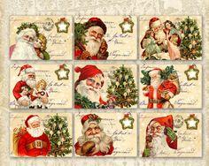 Christmas Greeting Cards 3.5x2.5 inch Santa Claus por FrezeArt