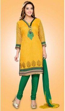 Party Readymade Churidar Kameez in Chiffon Fabric With Yellow Color | FH520278986 #salwar, #kameez, #readymade, #anarkali, #patiala, #pakistani, #suits, #online, #stitched, #indian, #dress, #material, #shopping, #fashion, #boutique, #mode, @heenastyle , #designer , #pakistani , #evening , #wedding , #casual , #palazzo , #patiyala , #punjabi , #churidar , #narrow