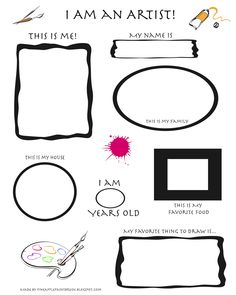 Free printable first day of art handout from Pineapple Paintbrush blog