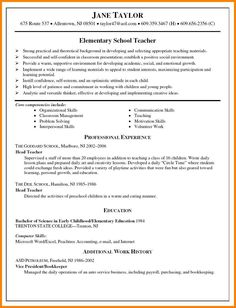 Teachers Resume Format Creative Teacher Resume  Google Search  Good To Know  Pinterest .