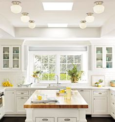 Love this kitchen! So bright and fresh.