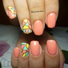 The best peach colored nails art design nails дизайн но Peach Colored Nails, Peach Nails, Yellow Nails, Shellac Gel Polish, Gelish Nails, Acrylic Nails, Nail Design Video, Gel Nail Designs, Gel Color
