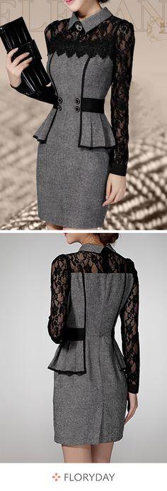Jetez un œil à la parfaite robe en dentelle.