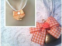 """♥ Trachten Kette ♥ """"Glöckchen"""" 5-450 orange"""