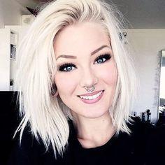 Outstanding Hair Goals Love This Messy White Blonde Choppy Bob Inspiring Short Hairstyles For Black Women Fulllsitofus