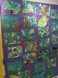 Week 4 Pink and Green Mama: Art History: Henri Rousseau Jungle Collage Jungle Theme Activities, Jungle Crafts, Preschool Art Activities, Jungle Art, Rainforest Preschool, Rainforest Theme, Henri Rousseau, 4th Grade Art, Elements And Principles