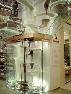 the chocolate fountain at the Bellagio