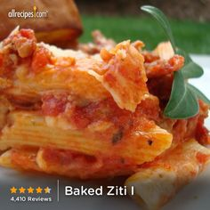 Baked Ziti I | A cozy, 5-star recipe that delivers warm tomato-y happiness.