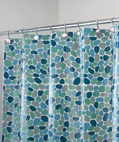 Love this Blue River Rocks Shower Curtain on #zulily! #zulilyfinds
