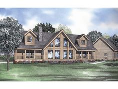 The Canyon Bluff Rustic Log Home has 3 bedrooms and 2 full baths. See amenities for Plan 073D-0044.