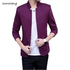 Cheap casual men blazers, Buy Quality jacket blazer men directly from China men blazer Suppliers: New Spring and Autumn thin Casual Men Blazer Cotton Slim Chinese style Suit Blaser Masculino Male Jacket Blazer Men Size M-5XL