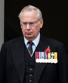 Prince Richard, Duke of Gloucester, cousin to the Queen, attends the annual Remembrance Sunday Service at the Cenotaph on Whitehall on November 9, 2014 in London.