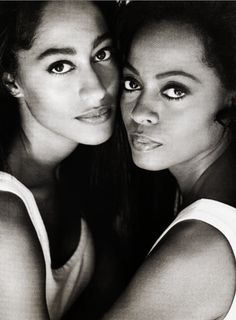 She gets it from her mama.Young Tracee Ellis Ross and mother Diana Ross.