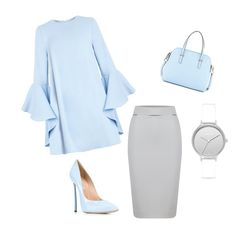 """Untitled #11"" by enaleille on Polyvore featuring Casadei, Skagen and Kate Spade"