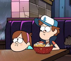 Twin Support | Mabel & Dipper | Gravity Falls | (gif)