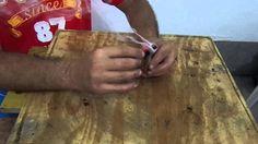 como fazer fogo com giz de cera