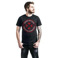 """Classica T-Shirt uomo nera """"Xavier Institute"""" di #XMen."""
