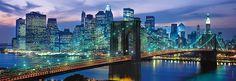 Clementoni Puzzle puzzeln macht Spaß Puzzlespaß Bauwerk Brücke New York Wahrzeichen Clementoni Puzzle, Puzzle 1000, Brooklyn Bridge, Brooklyn New York, Morning Sun, Skyline Art, New York Skyline, Manhattan Skyline, Vincent Van Gogh