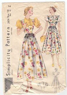 Dirndl inspired dresses, 1937