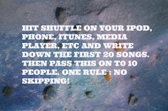 So here we go:  1. Some Devil ~ Dave Matthews & Tim Reynolds Live in Vegas 2. Only You ~ John Butler Trio 3. Luck ~ American Authors 4. Hotel Anywhere ~ Cold War Kids 5. Big Bad World ~ Kodaline 6. Where Are You Now ~ Mumford and Sons 7.Saturday's Song ~ Hiss Golden Messenger  8. Queen of the Westside ~ Brett Dennen 9. All I Want ~ Kodaline 10. Stranger to My Happiness ~ Sharon Jones and the Dap Kings Two of these songs I didn't even realize were on my iPod.
